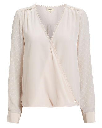 Perry Silk Champagne Blouse, CHAMPAGNE, hi-res