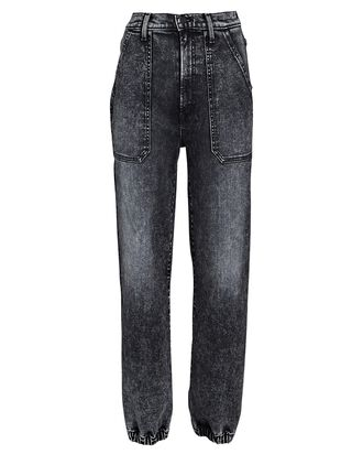 The Wrapper Patch Springy Ankle Jeans, TRAIN STOPS, hi-res