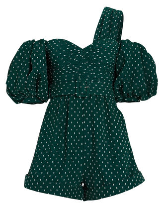 Plumetis Swiss Dot Asymmetrical Playsuit, , hi-res
