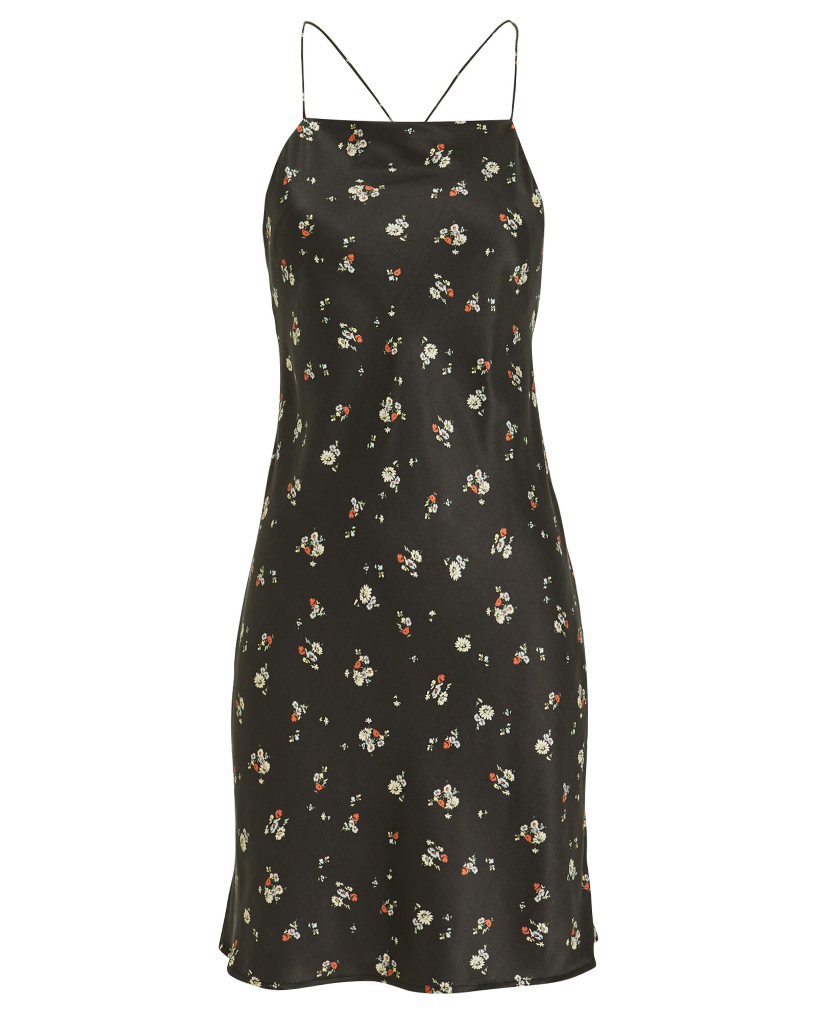 a7ad2c63a1de7 90s Short Slip Dress, BLACK/FLORAL, ...