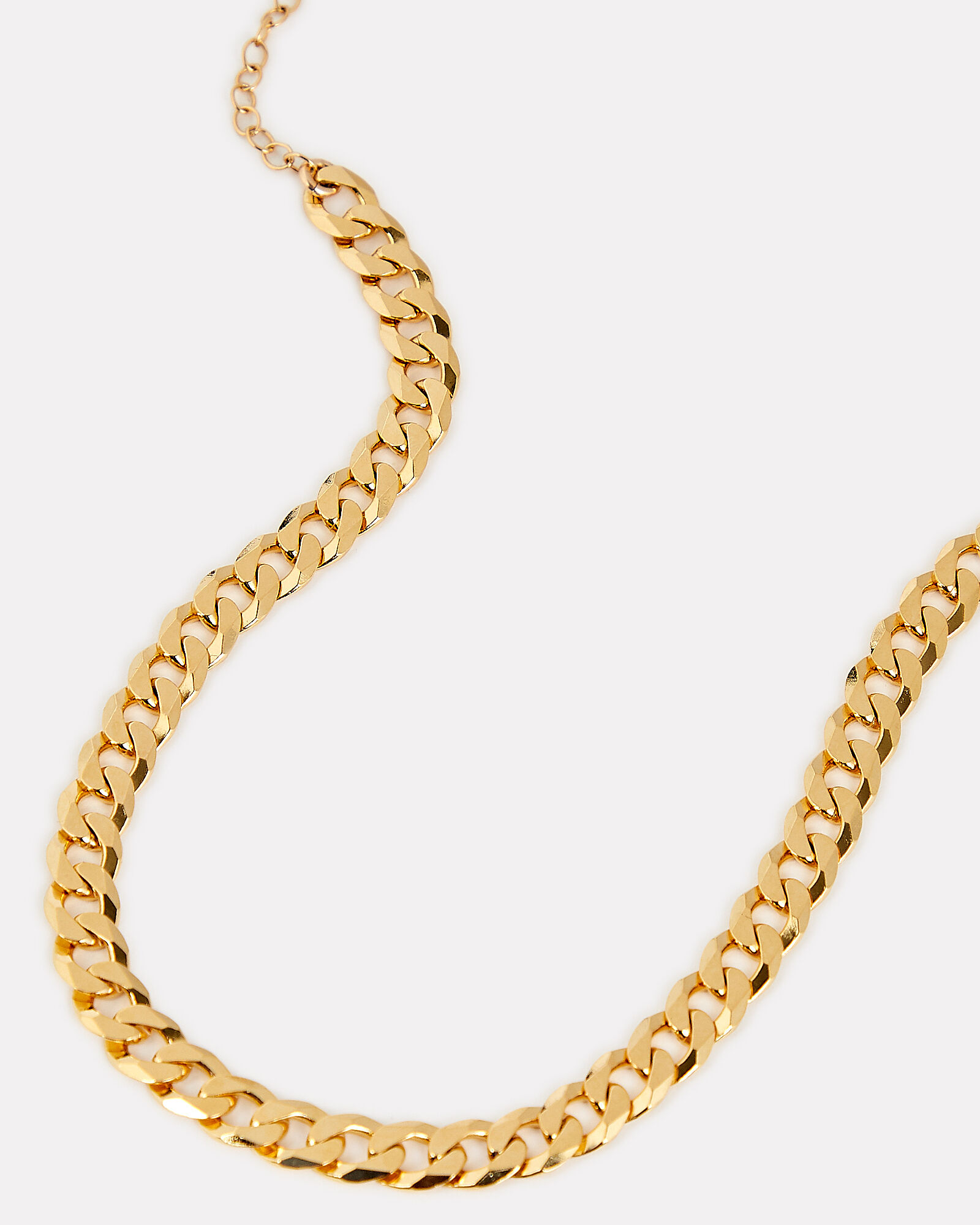 Curb Chain Layer Necklace, GOLD, hi-res