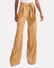 Woode Belted Wide-Leg Pants, BROWN, hi-res