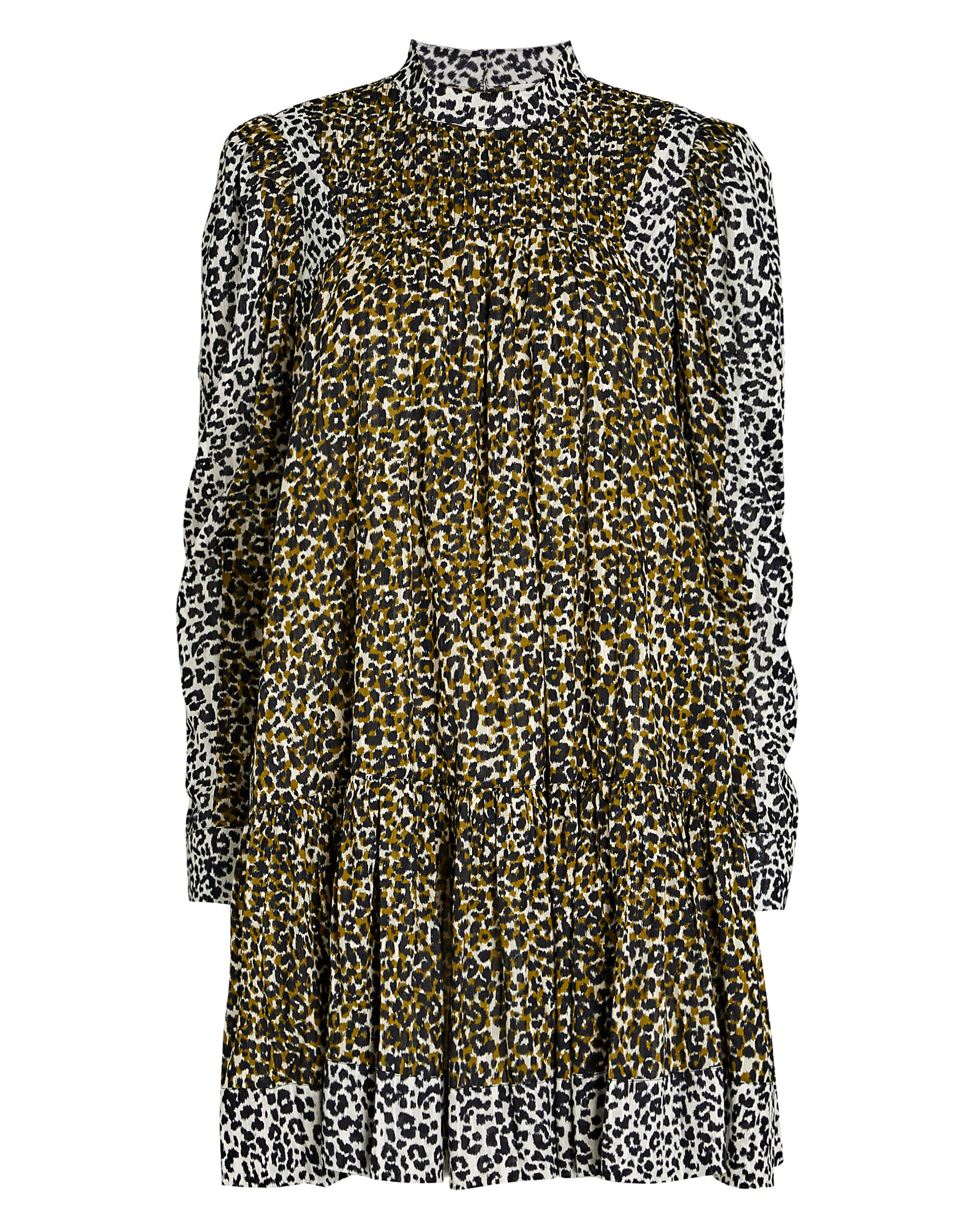 Amira Leopard Puff Sleeve Dress, , hi-res