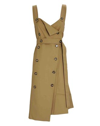 Sleeveless Trench Dress, BEIGE, hi-res