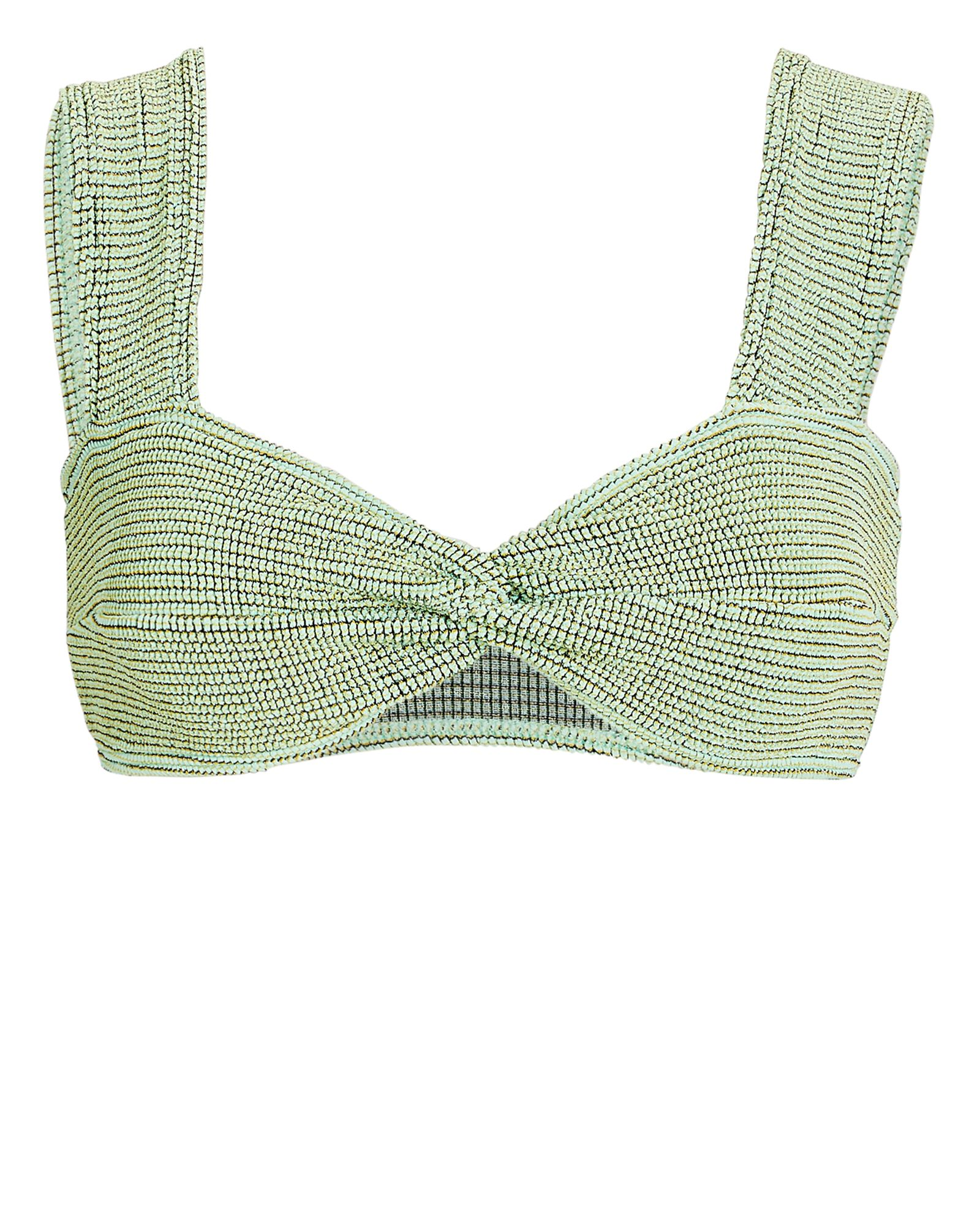 Sonny Twisted Bikini Top, LIGHT GREEN, hi-res