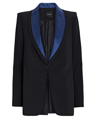 The Tux Silk Blazer, BLACK, hi-res
