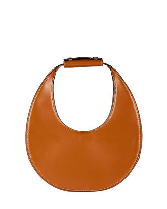 Moon Leather Shoulder Bag, BROWN, hi-res