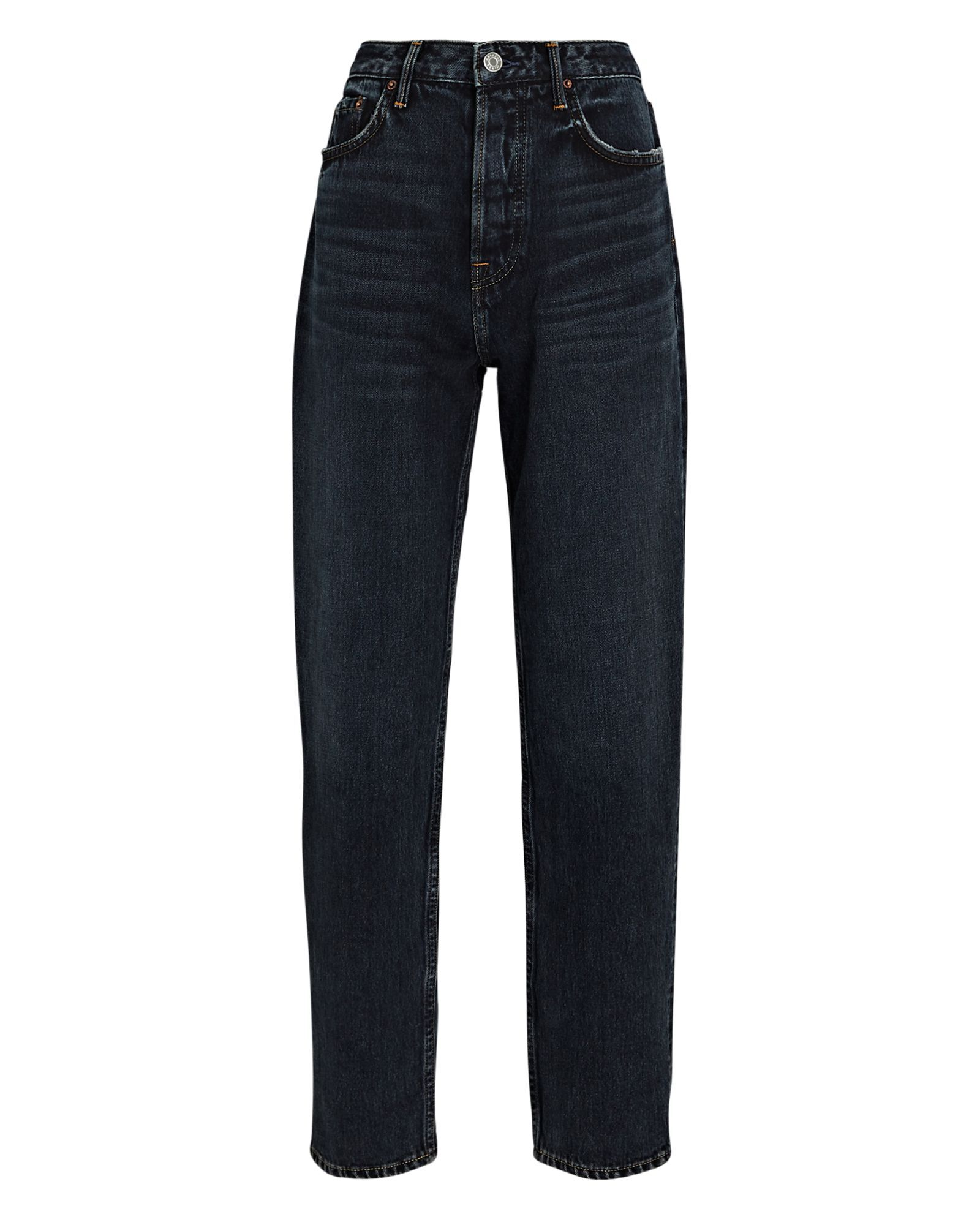 Devon High-Rise Straight-Leg Jeans, INTO THE ABYSS, hi-res