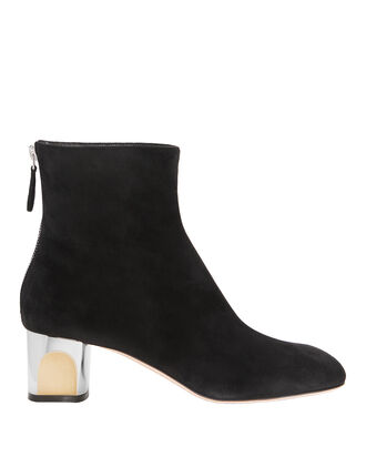 Sculpted Heel Ankle Boots, BLACK, hi-res