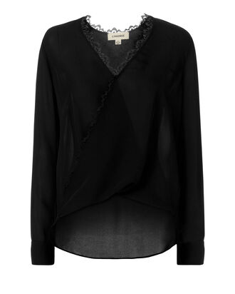 Rosario Wrap Blouse, BLACK, hi-res