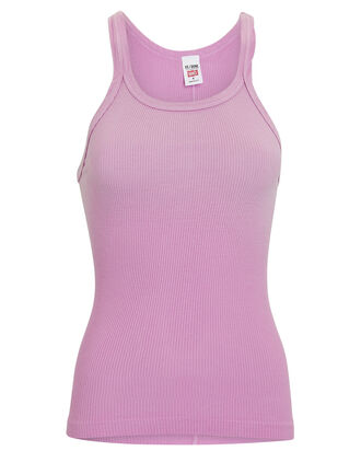 Rib Knit Tank Top, LIGHT PURPLE, hi-res