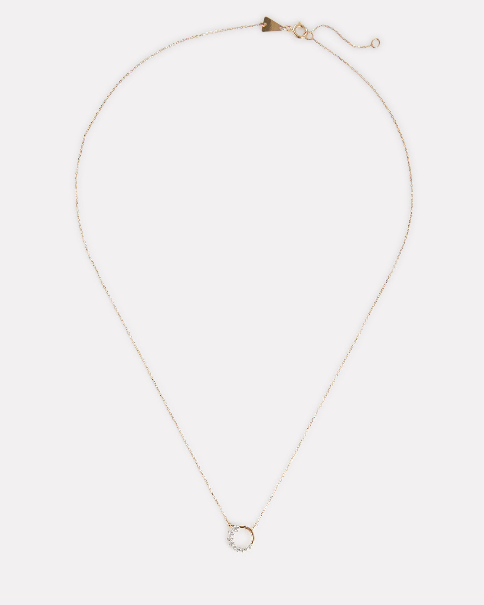 Super Tiny Diamond Circle Necklace, GOLD, hi-res