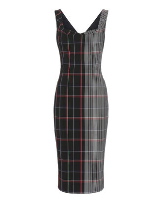 Multi Check Midi Dress, PATTERN, hi-res