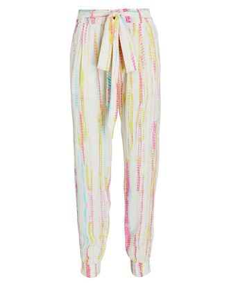 Lurex Tie-Dyed Joggers, IVORY/YELLOW/PINK, hi-res