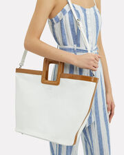 Cleo Canvas Tote Bag, IVORY, hi-res