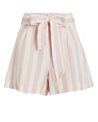 Katy Petal Stripe Shorts, PINK/WHITE/STRIPES, hi-res