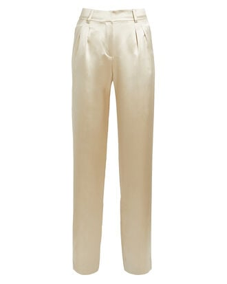Lauren Silk Pants, GOLD, hi-res