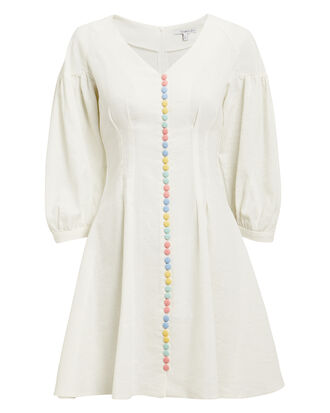 Polly Mini Dress, WHITE, hi-res