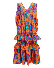Casati Floral Dress, ORANGE/FLORAL, hi-res