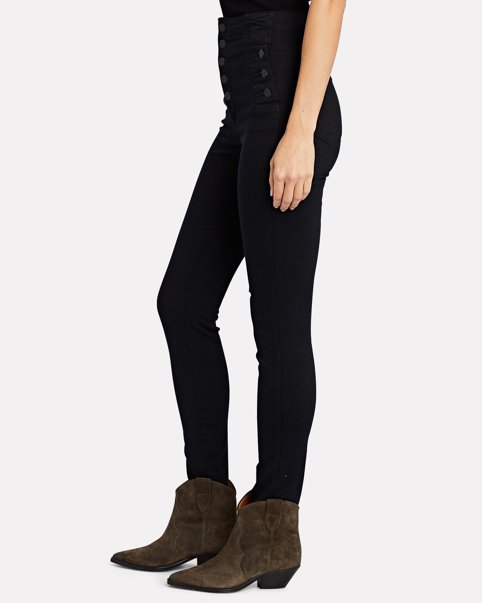 Natasha Sky High Skinny Jeans, BLACK, hi-res