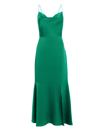 Paris Midi Dress, EMERALD, hi-res