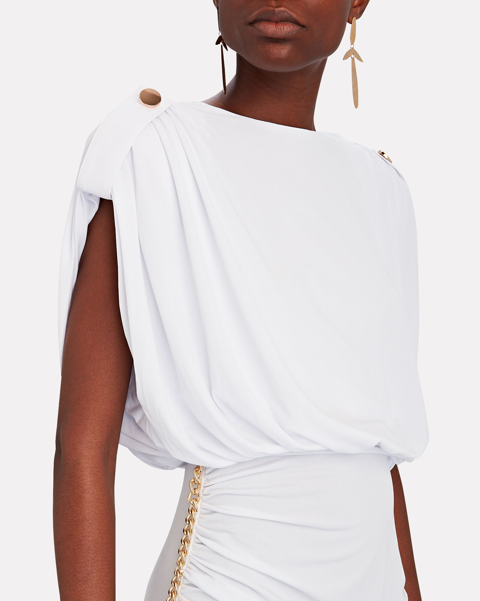 Florence Chain-Embellished Maxi Dress, WHITE, hi-res