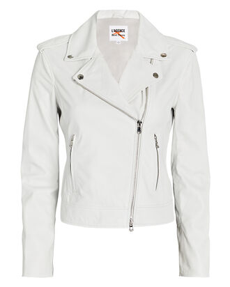 Leather Moto Jacket, , hi-res