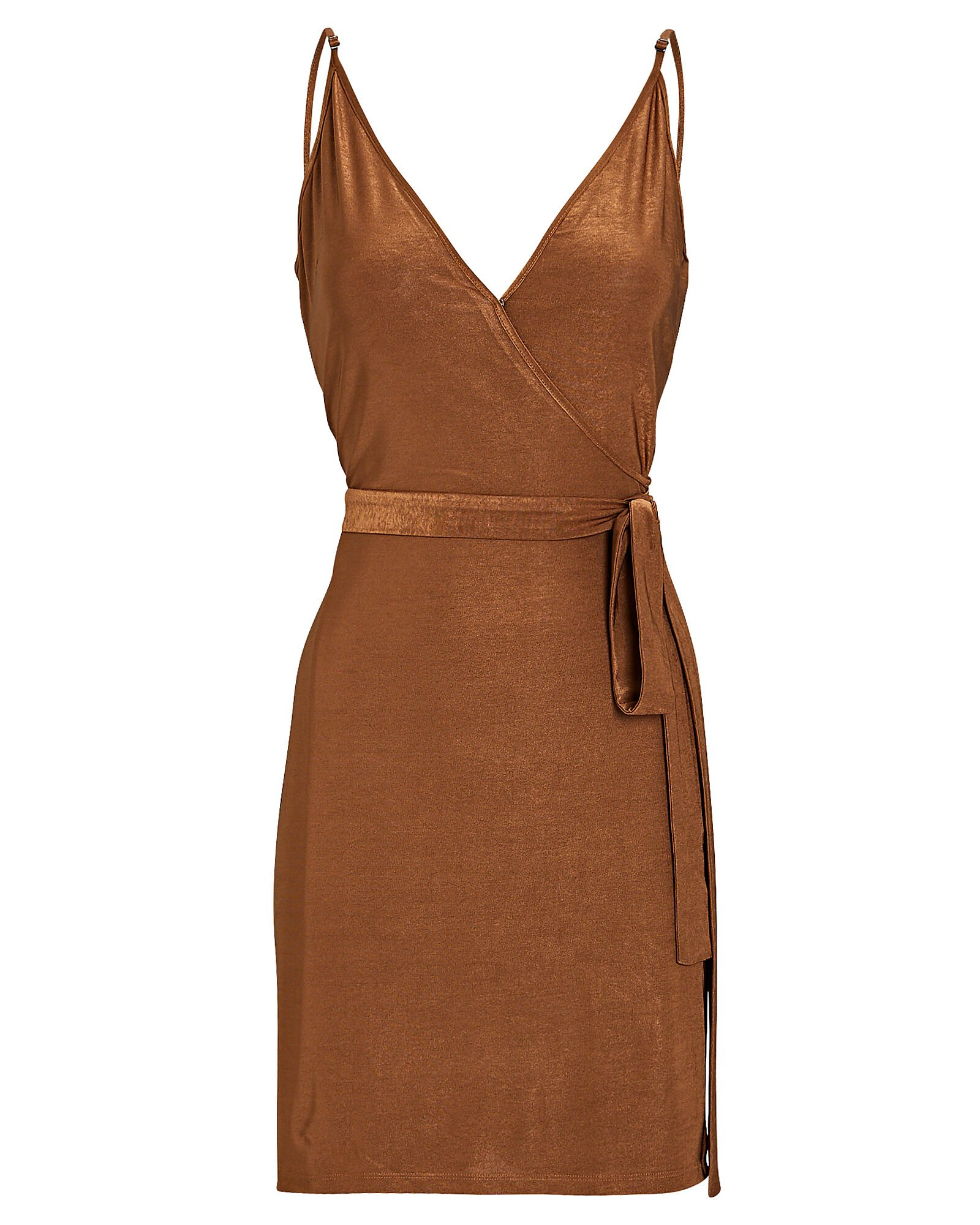 Tate Jersey Wrap Dress, ORANGE, hi-res