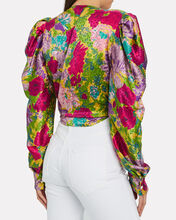 Bianca Floral Tie Top, MULTI, hi-res