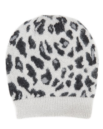Knit Leopard Print Hat, MULTI, hi-res