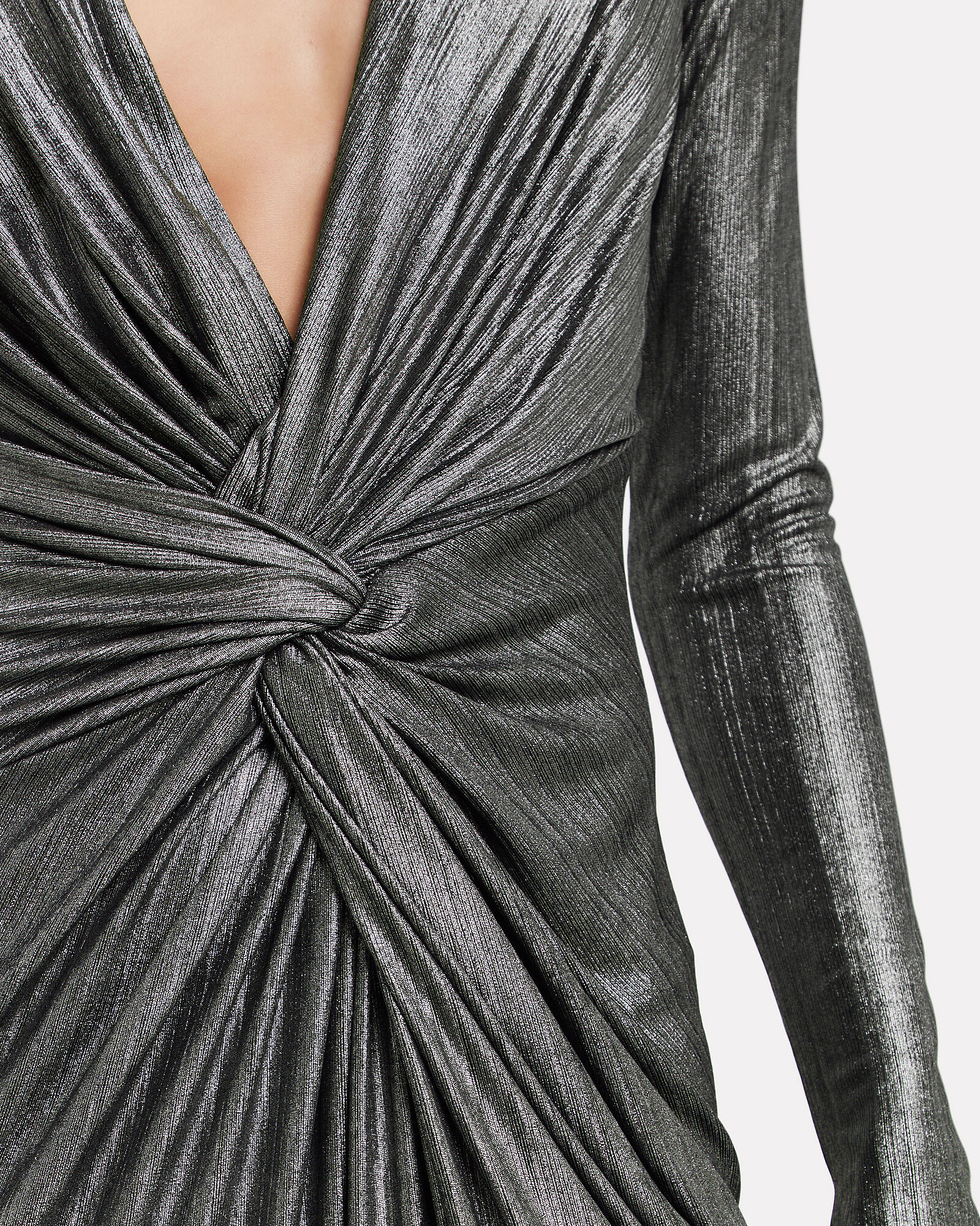 In A Mood Draped Plissé Gown, SILVER, hi-res