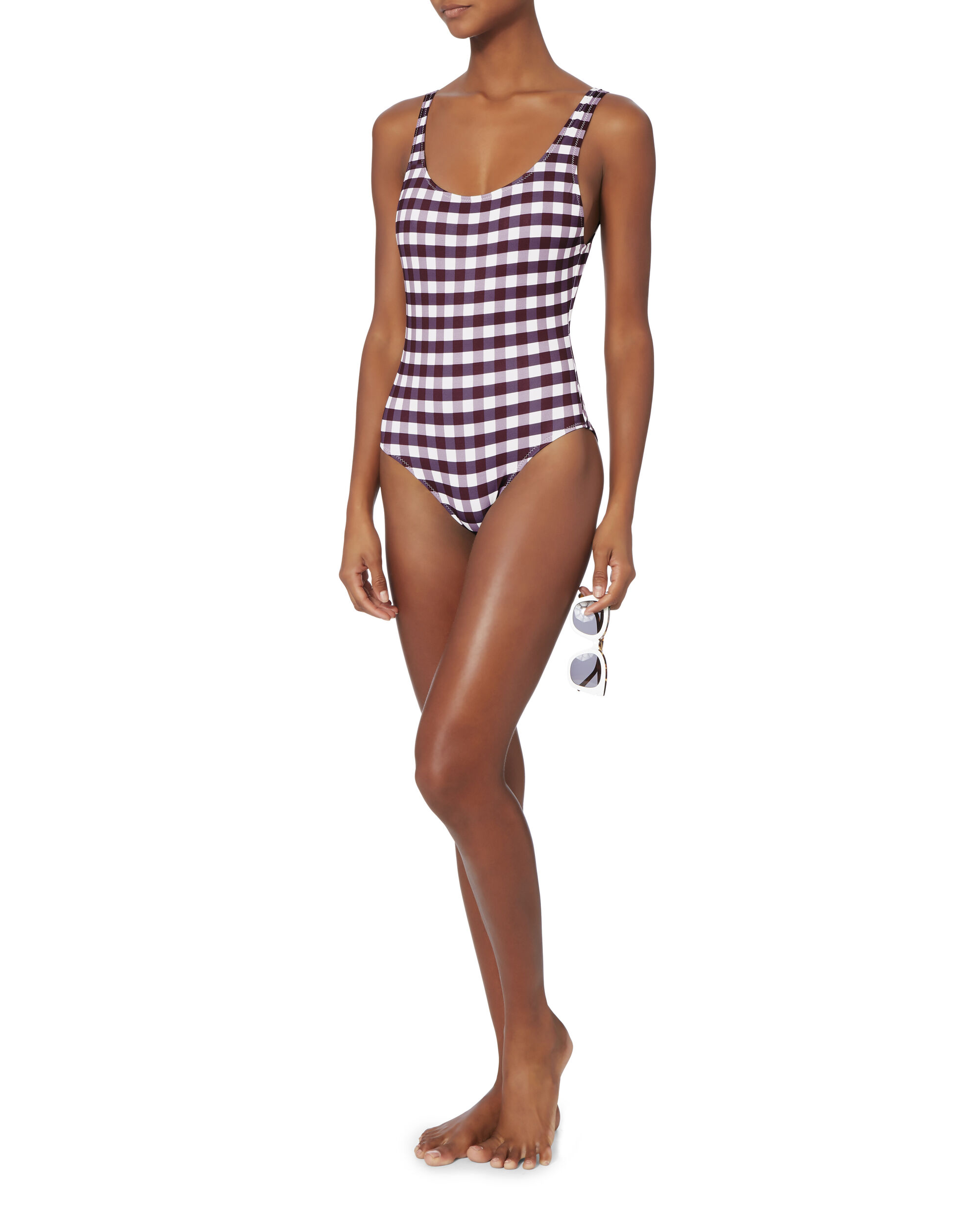 Anne-Marie Gingham Swimsuit, PATTERN, hi-res