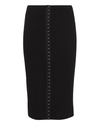 Danielle Knit Skirt, BLACK, hi-res