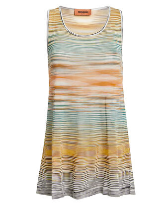 Flat Knit Tank, IVORY/ORANGE/YELLOW/BLACK, hi-res
