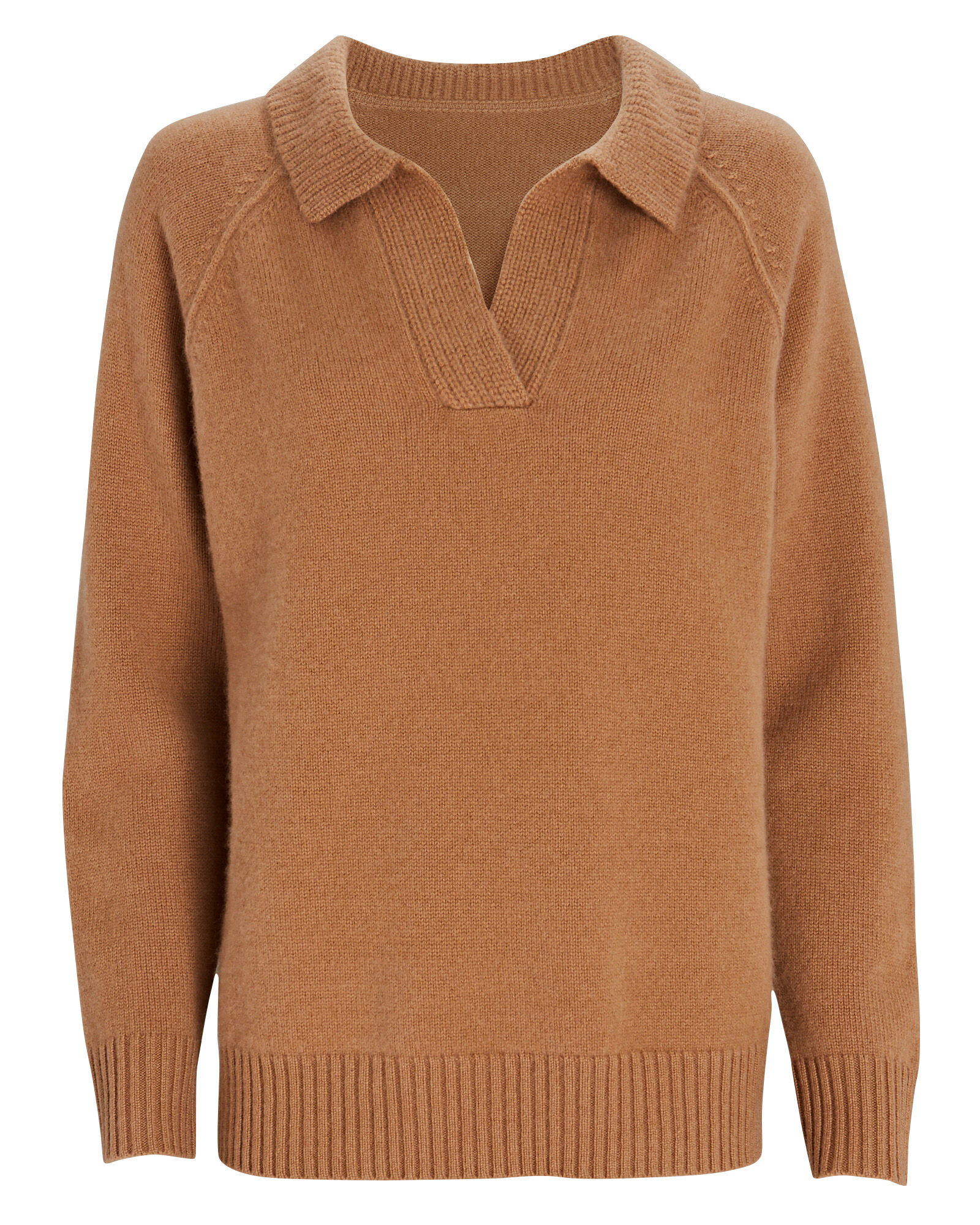 Jodie Polo Cashmere Sweater, BEIGE, hi-res
