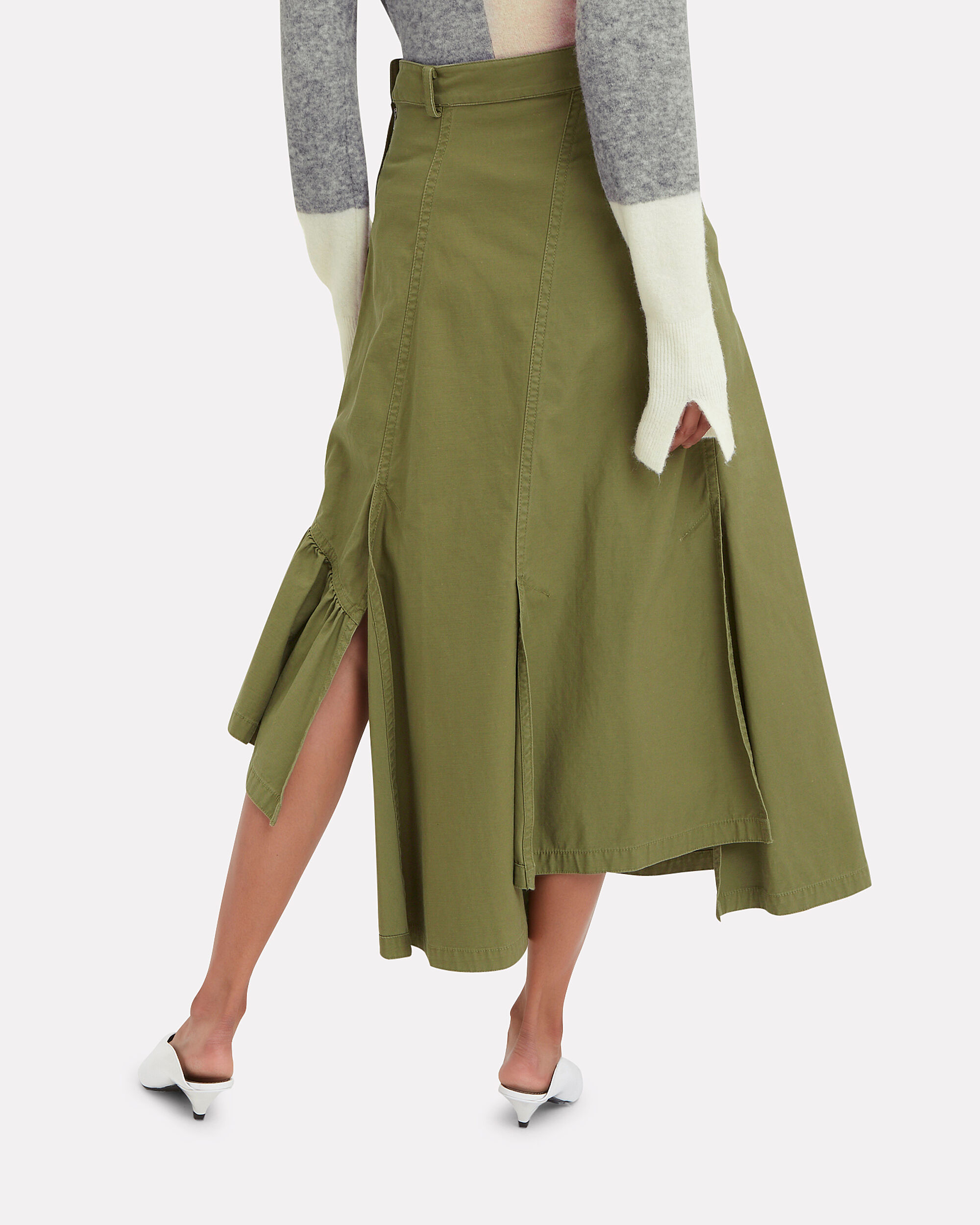Utility Layered Maxi Skirt, OLIVE/ARMY, hi-res