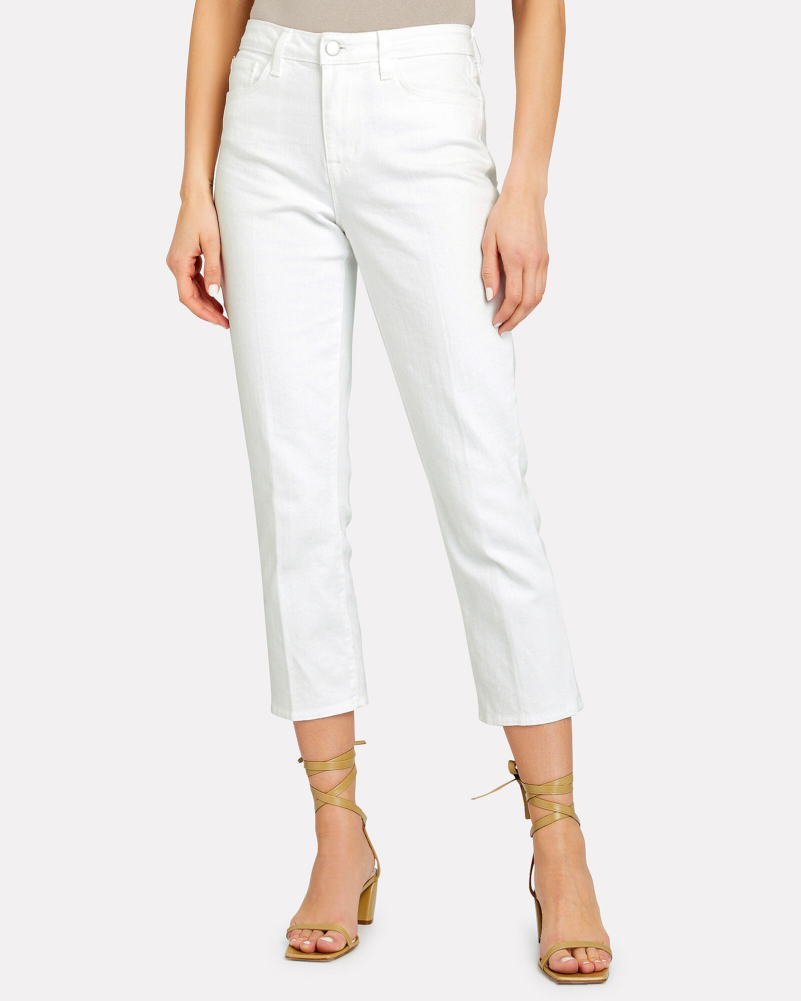 Nadia Cropped High-Rise Jeans, WHITE, hi-res