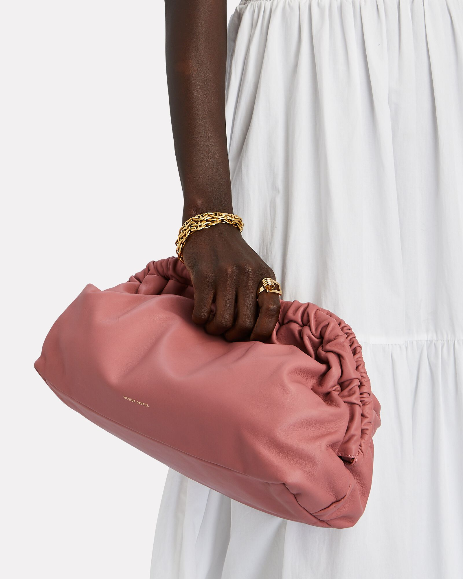 Cloud Soft Leather Pouch, PINK, hi-res