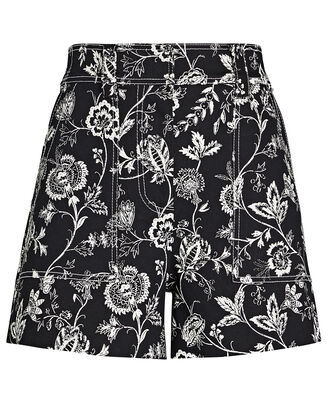 Odette Floral Cotton Shorts, , hi-res
