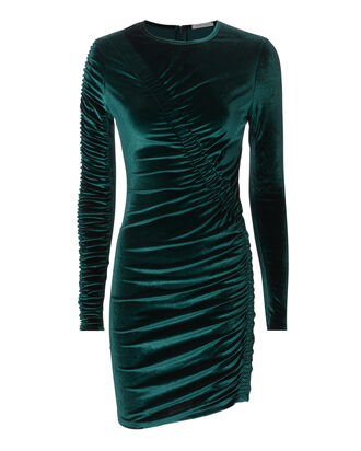 Yarden Teal Velvet Dress, TURQUOISE, hi-res