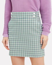 Arezzo Houndstooth Mini Skirt, TURQUOISE HOUNDSTOOTH, hi-res