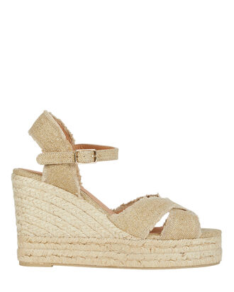 Bromelia Espadrille Wedge Sandals, GOLD, hi-res