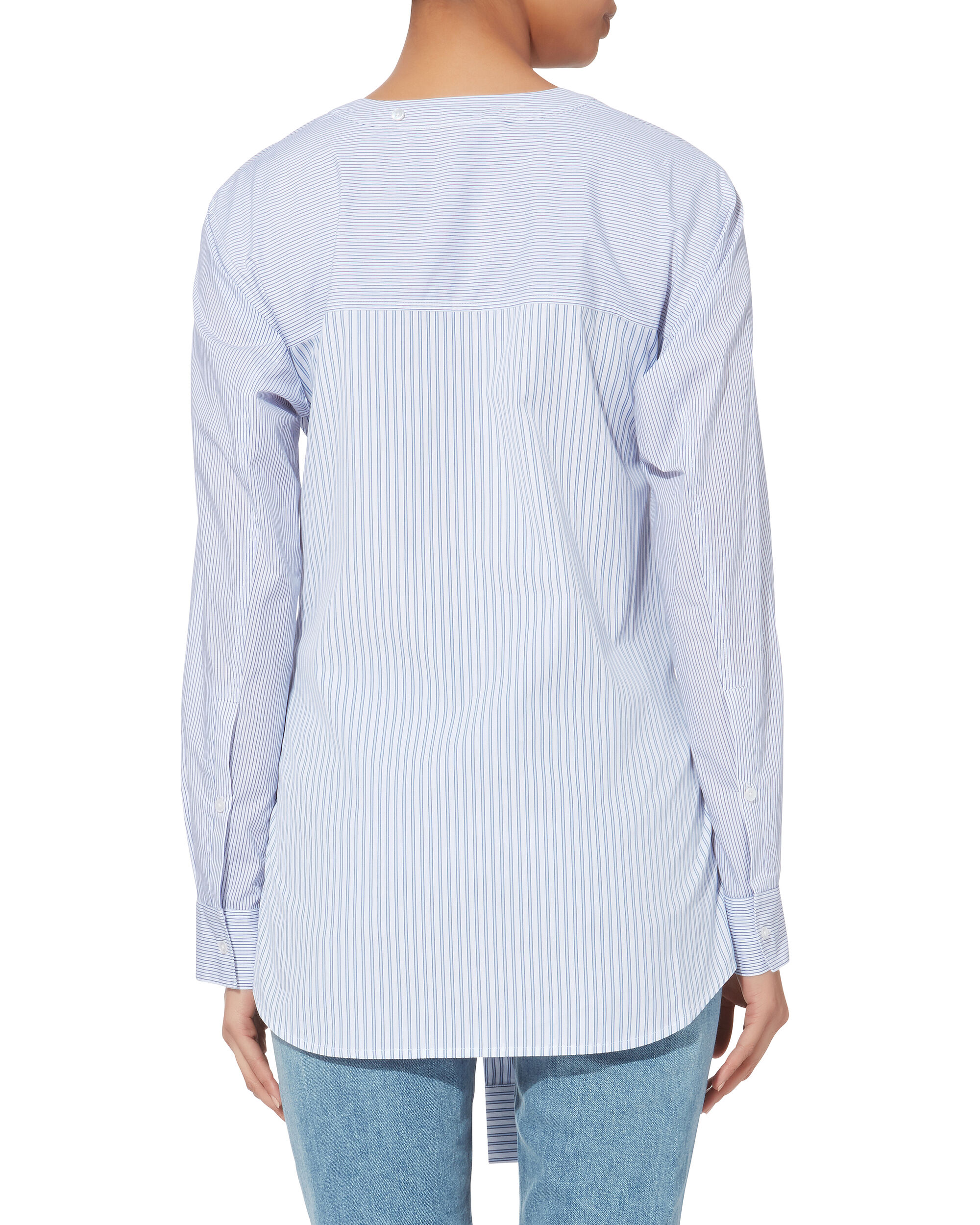 Tie Front Shirting Top, MULTI, hi-res