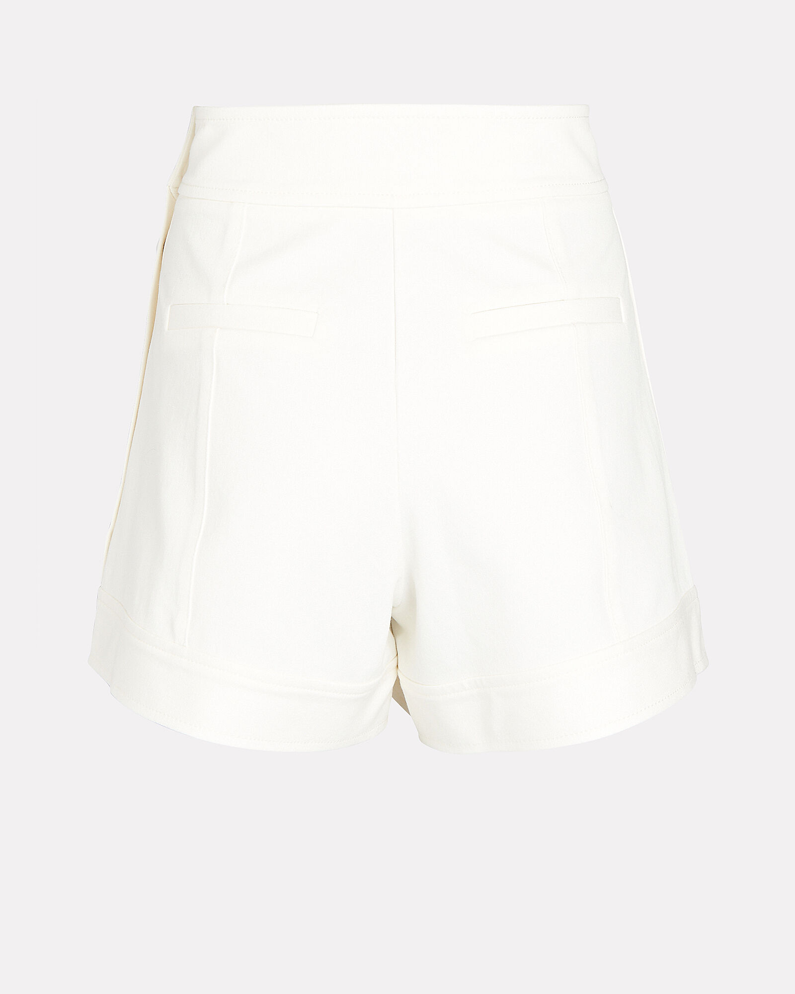 Tailored Cotton-Blend Shorts, WHITE, hi-res