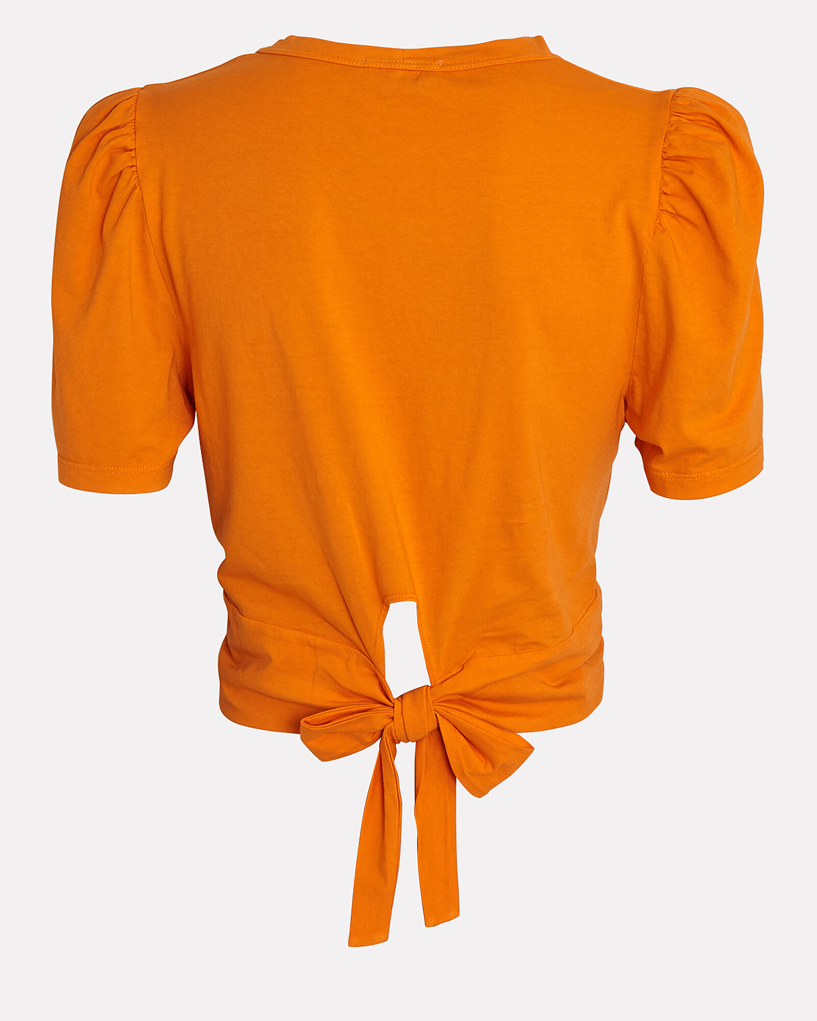 Monica Wrap Cotton T-Shirt, ORANGE, hi-res