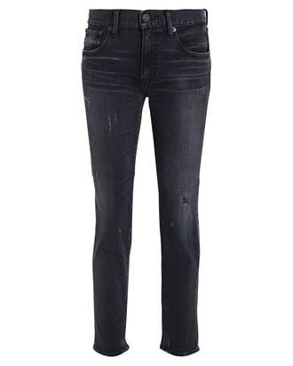 Velma Distressed Skinny Jeans, FADED BLACK DENIM, hi-res