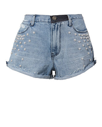 Pearl Denim Shorts, DENIM, hi-res