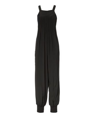 Arielle Pleated Overall Jumpsuit, BLACK, hi-res