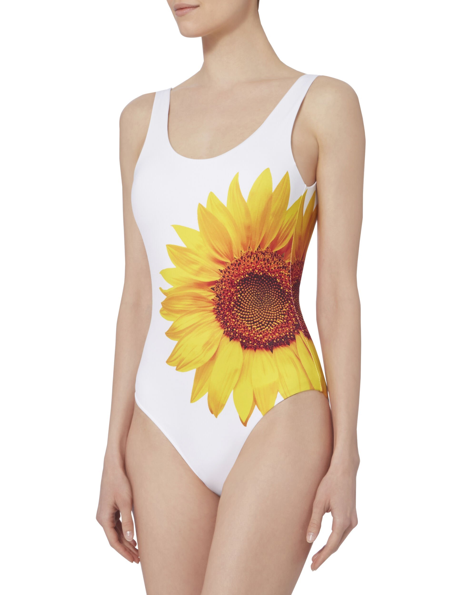 Kelly Sunflower Print One Piece Swimsuit, MISS SUNSHINE, hi-res