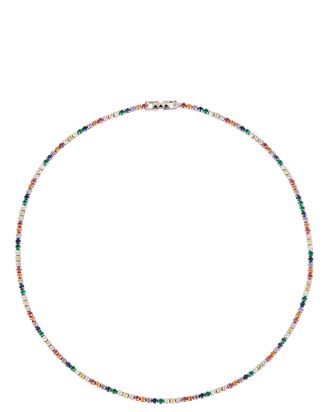 Tish Rainbow Tennis Necklace, MULTI, hi-res